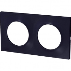 Schneider Odace Plaque Double Anthracite