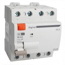 Interrupteur Différentiel Tetrapolaire 63A Type AC 30mA Digital Electric