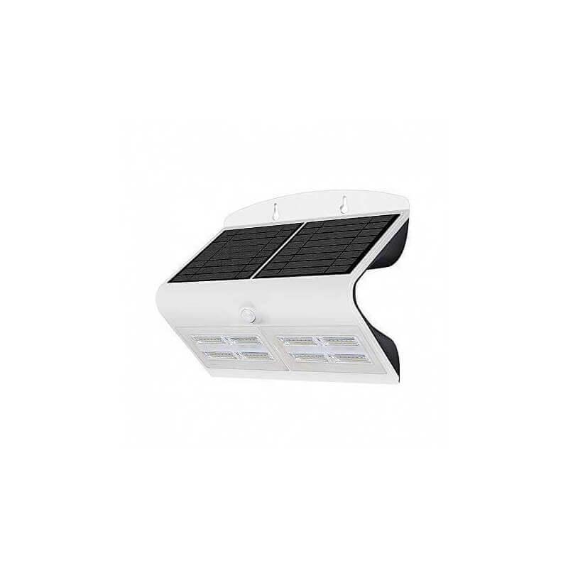 Applique Murale LED Solaire 6.8W 4000°K Blanc + Détecteur