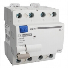Interrupteur Différentiel Tetrapolaire 63A Type B 30mA
