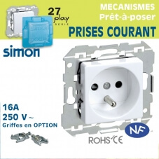 Prises de courant 2 P+T Simon 27 Play